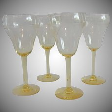 Four Yellow Wine Gobets