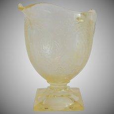 Indiana Glass Yellow Horseshoe Creamer
