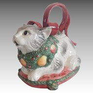 Fitz & Floyd Holiday Cat Teapot