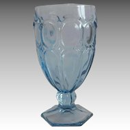 Fostroia Light Blue Moonstone Goblet