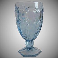 Fostroia Light Blue Moonstone Goblet