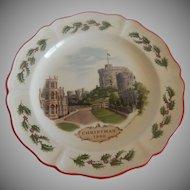 Wedgwood Windsor Castle 1980 Christmas Plate