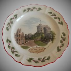 Wedgwood Windsor Castle 1980 Christmas Plate