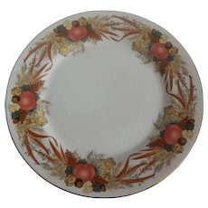 Andrea By Sadek Autumn Cornucopia Dinner Plate