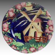 Maling Hand Decorated Windmill Plate