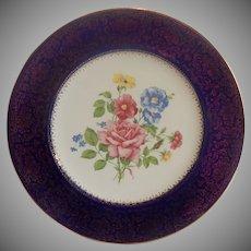 Salem China Aristocrat Blue Dinner Plate