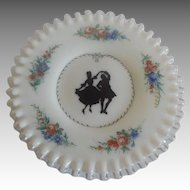 Fenton 1951 Hand Painted Silver Crest Plate