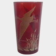 Hazel Atlas Rudy Red Flying Geese Tumbler