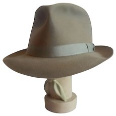 Grey Royal Stetson Playboy Vintage Mans Fedora Hat 7 1/8