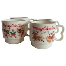 Four Ceramic Christmas Mugs