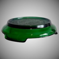 Anchor Hocking Forest Green Punch Bowl Stand