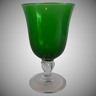 Emerald Green Water Goblet by Cristal D'Arques Durand
