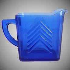 Chevron Cobalt Blue Pitcher