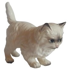 Persian Cat Figurine  Made In Japan