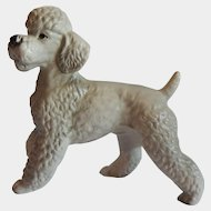 Gray Poodle Ceramic Figurine