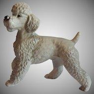 Gray Poodle Ceramic Figurine