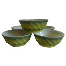 Five Anchor Hocking Fire King Kimberly Cereal Bowls