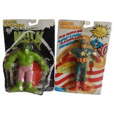 Just Toys Marvel Captain American &The Incredible Hulk Super Hero Figures