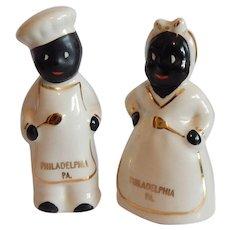 Black Americana Chef Souvenir Salt and Pepper Shakers