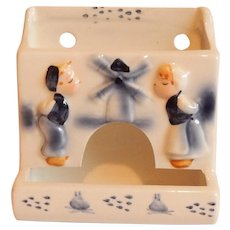 Enesco Hand Painted Ceramic Match Holder