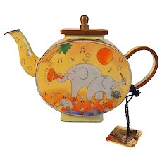 Charlotte Di Vita Miniature Enameled New World Symphony Teapot