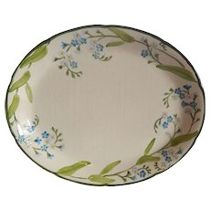 Franciscan Handpainted Forget Me Not Platter