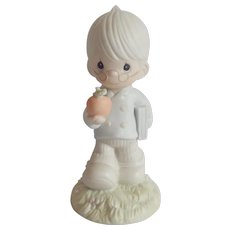 Precious Moments To The Apple Of  God's Eye Figurine