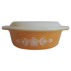 Pyrex Glass Butterfly Gold Casserole