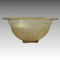 Federal Amber Glass Mixing Bowl