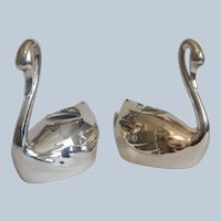 Wm. A  Rogers Swan Candle Holders