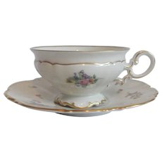 Hutschenreuther Selb Bavarian Cup And Saucer