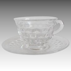 Fostoria American Crystal Cup and Saucer