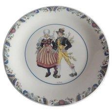 Rorstrand Swedish National Costumes Skane Plate