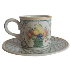 Villeroy & Boch Basket Cup and Saucer Set