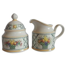 Villeroy & Boch Basket Creamer and Sugar set