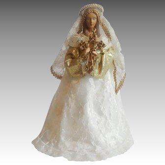 Virgin Mary Christmas Tree Topper
