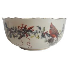 Lenox Winter Greeting Bowl