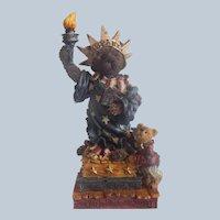 Boyds Bear Ms. Libearty Bearstone Figurine