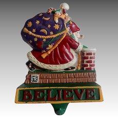 Midwest Cast Iron Santa Believe Christmas Stocking Holder