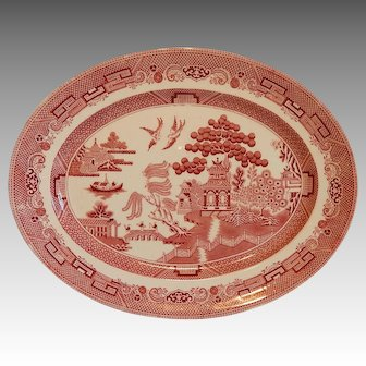 Johnson Bros. Pink/ Red Willow Serving Platter
