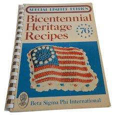 Bicentennial Heritage Recipes 1976 Cookbook