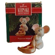 Hallmark Keepsake Pepperoni Mouse Christmas Ornament