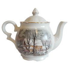 Avon Currier & Ives Tea Pot