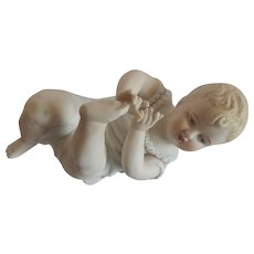 Bisque Piano Baby Figurine