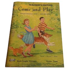 Teachers Edition Come and Play Beginners Work Book 1955 Unused