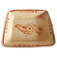 Mexican Pottery Rectangular Dish