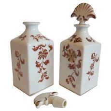 Two Ceramic Irice Vanity Bottles
