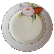 Four Hand Painted Noritake Plates