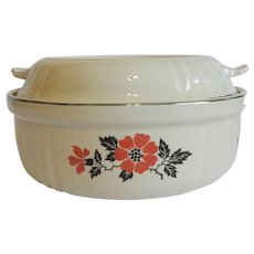 Hall China Red Poppy Radiance Casserole