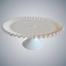 Fenton Art Glass Silver Crest Cake Stand